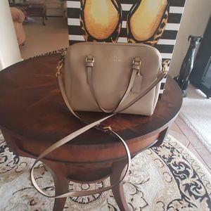 Coach tan handbag